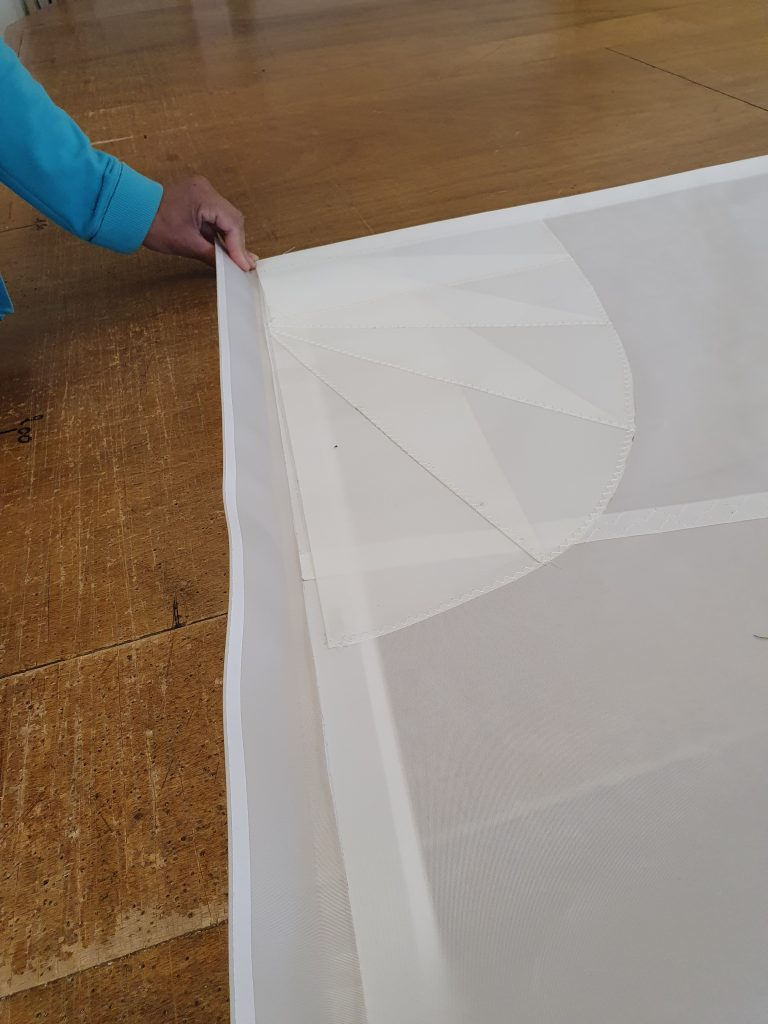 Fabrication voile blanche